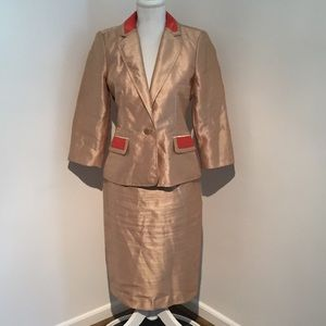 Signature by Larry Levine Gold Blazer with Skirt